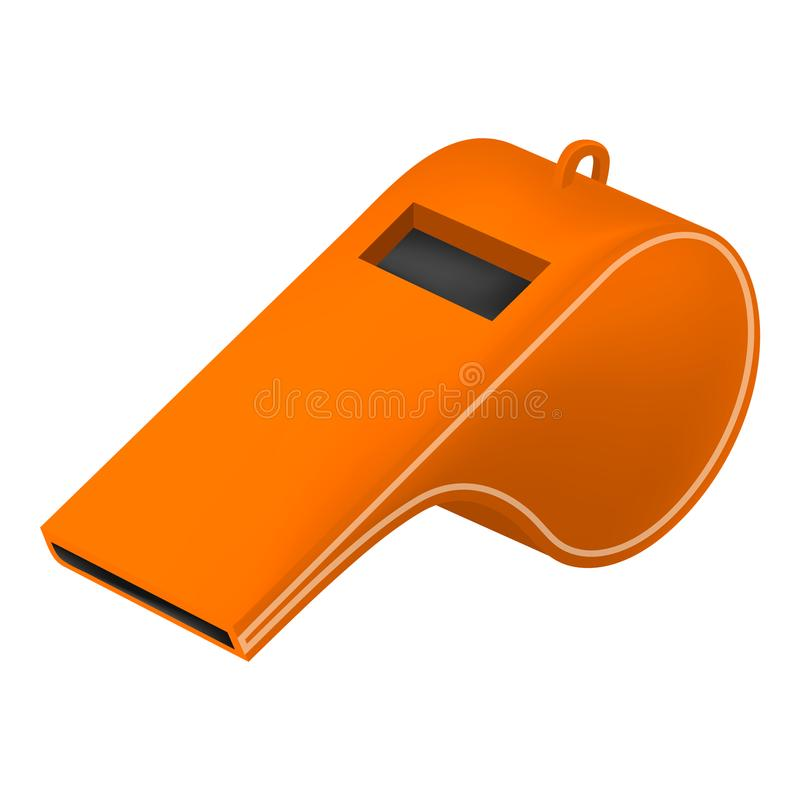 Orange Pfeifenmodell, realistische Art lizenzfreie abbildung