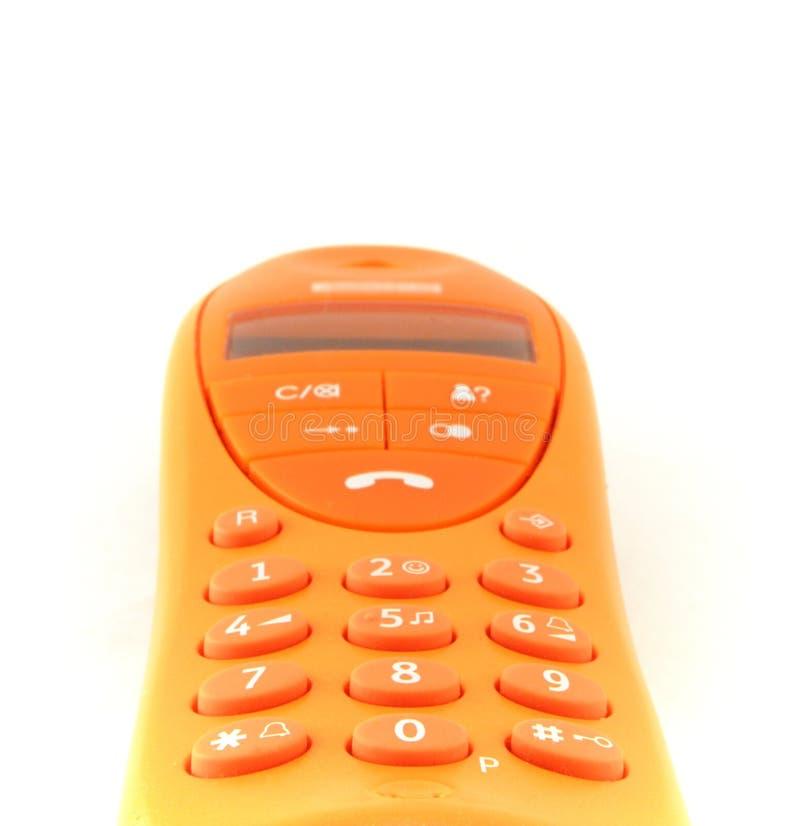 Orange phone stock photos