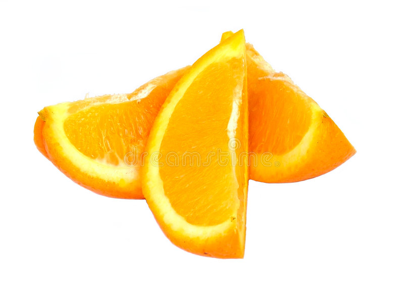 Download Orange pieces stock image. Image of over, tasty, white - 199459