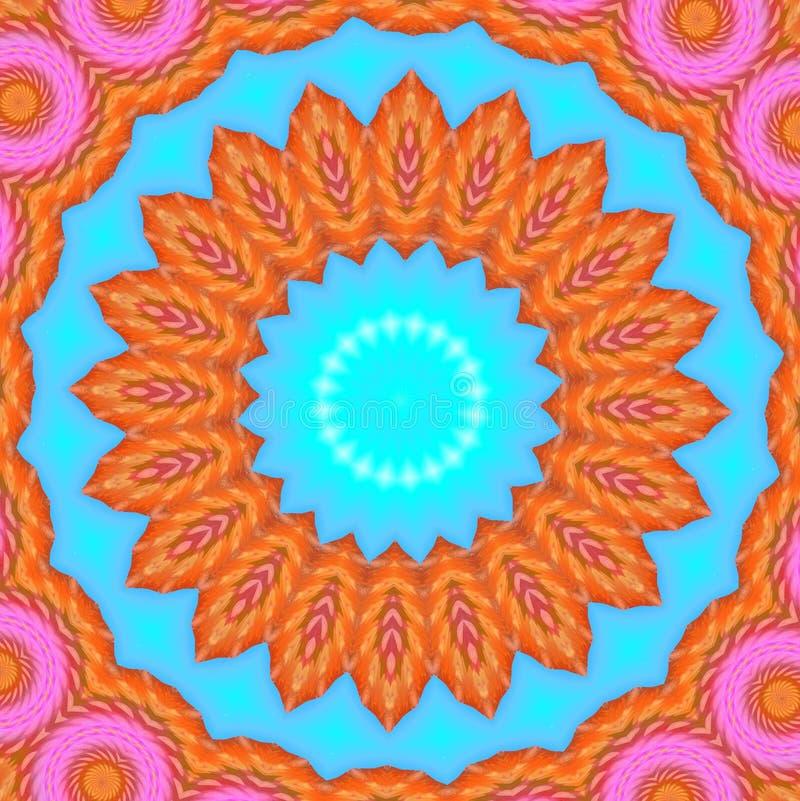 orange pink royaltyfri illustrationer