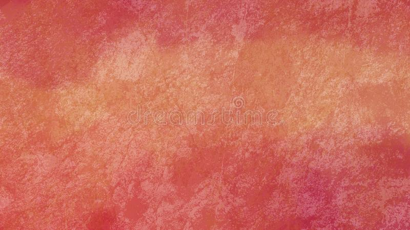Orange and pink background texture, warm marbled vintage peach and coral colors with old stone or rock grunge texture vector illustration