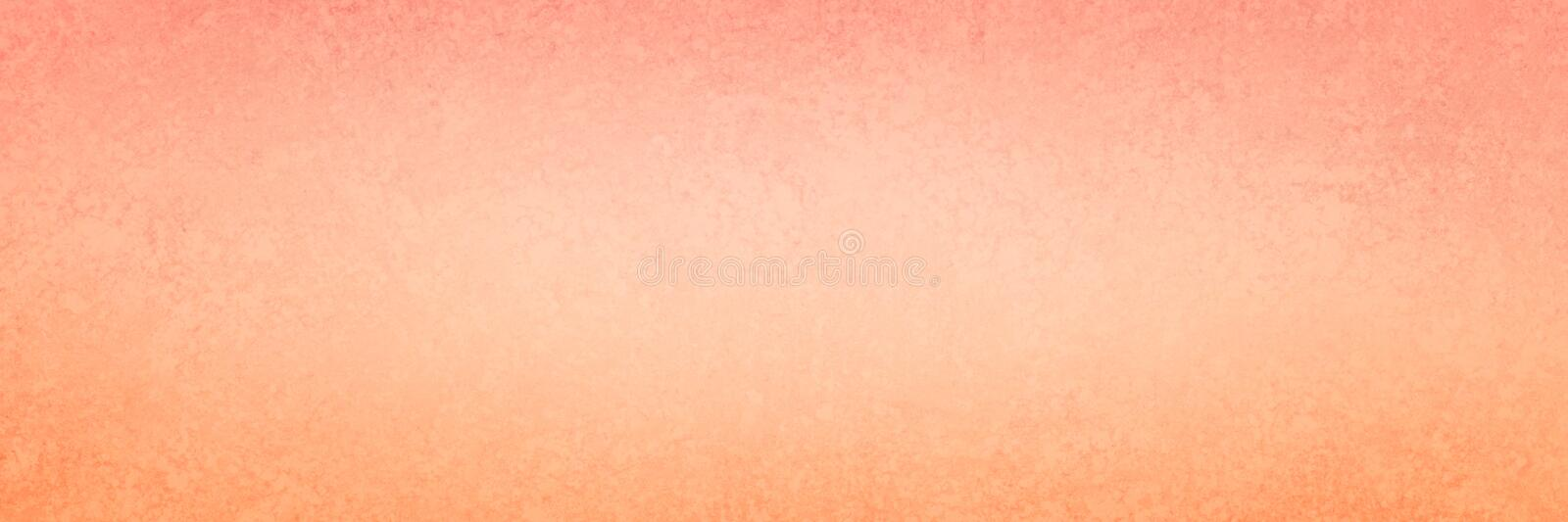 Orange and pink banner background with soft pretty coral or salmon colors and faint vintage grunge texture design in elegant paper stock illustration