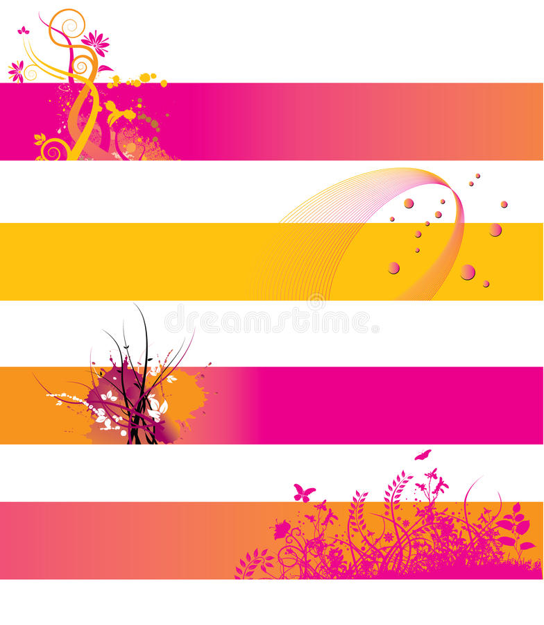 Download Orange And Pink Banners Stock Image - Image: 9671921
