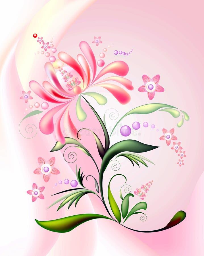 orange pink för 2 blomma vektor illustrationer