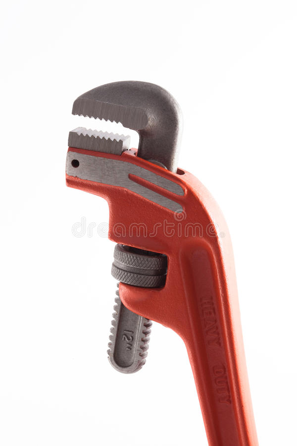 Orange Pipe Wrench royalty free stock image
