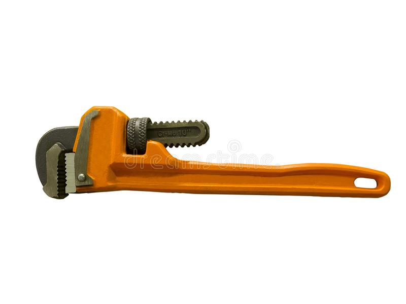 Orange pipe wrench stock images