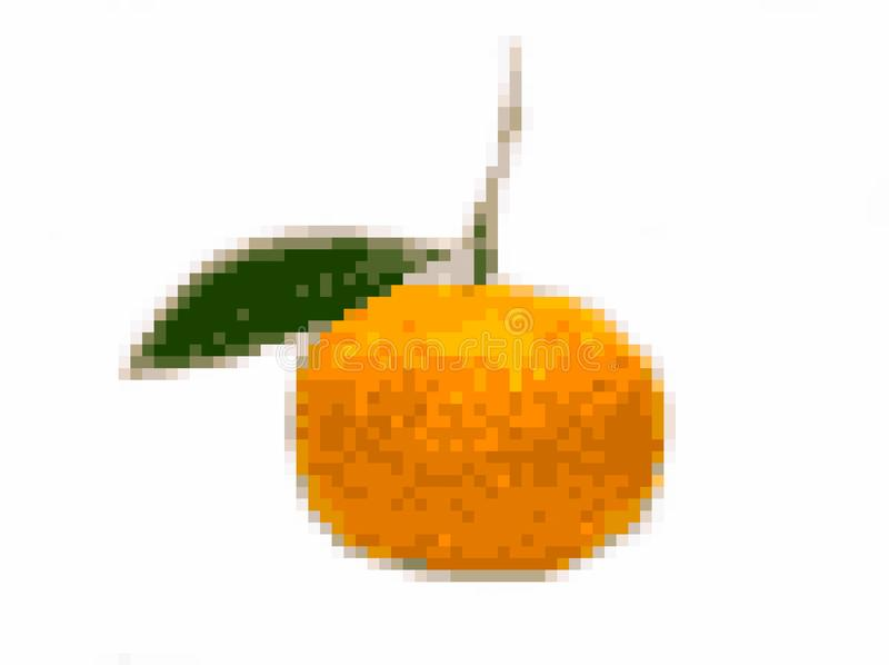 Orange pixel art royalty free stock images