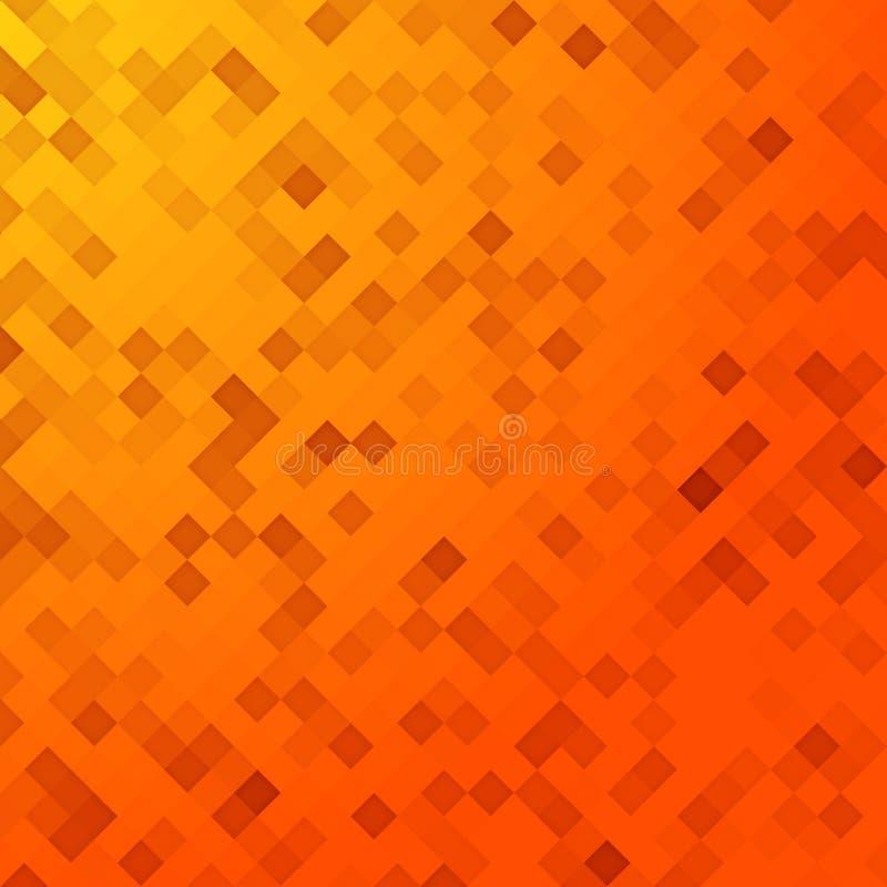 Orange pixel background. An illustration of an orange pixel background royalty free illustration