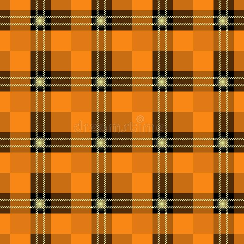 Orange plädmodell för tartan Sömlös bakgrund i varm höstfärg EPS10 royaltyfri illustrationer
