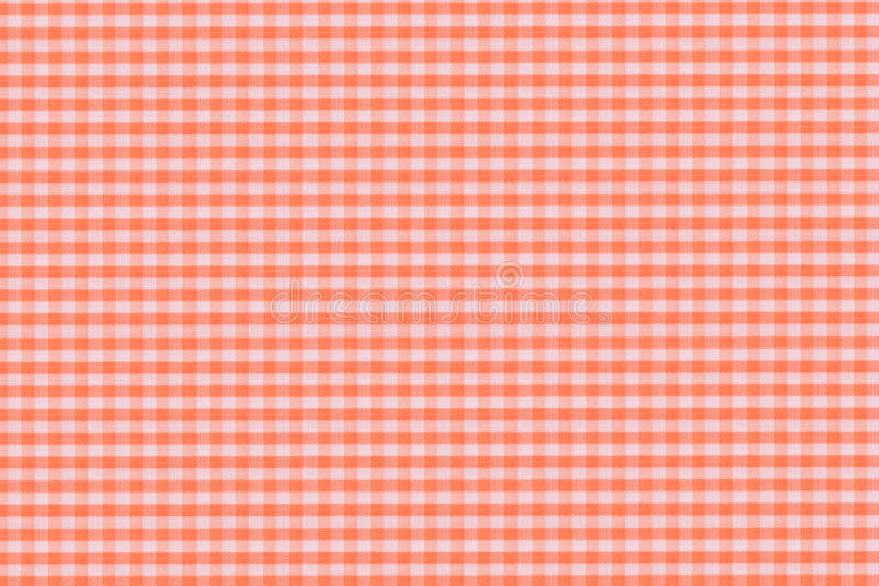 Orange Plaid Stock Photography