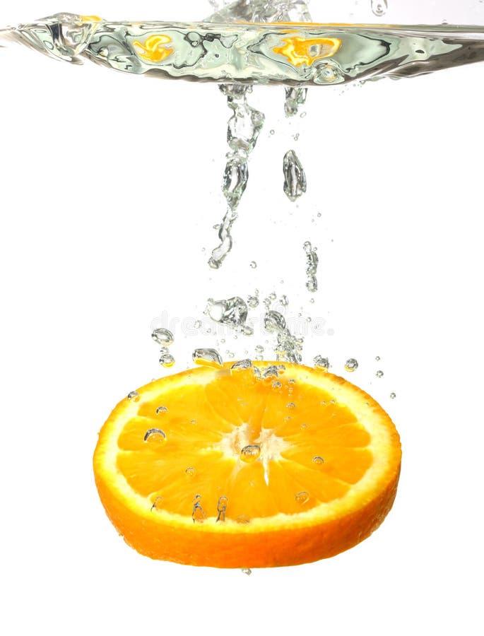 orange plaska vatten arkivfoto
