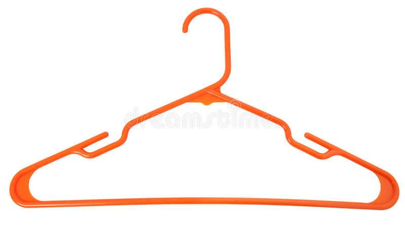 Download Orange Plastic Hanger stock photo. Image of isolated - 17206336