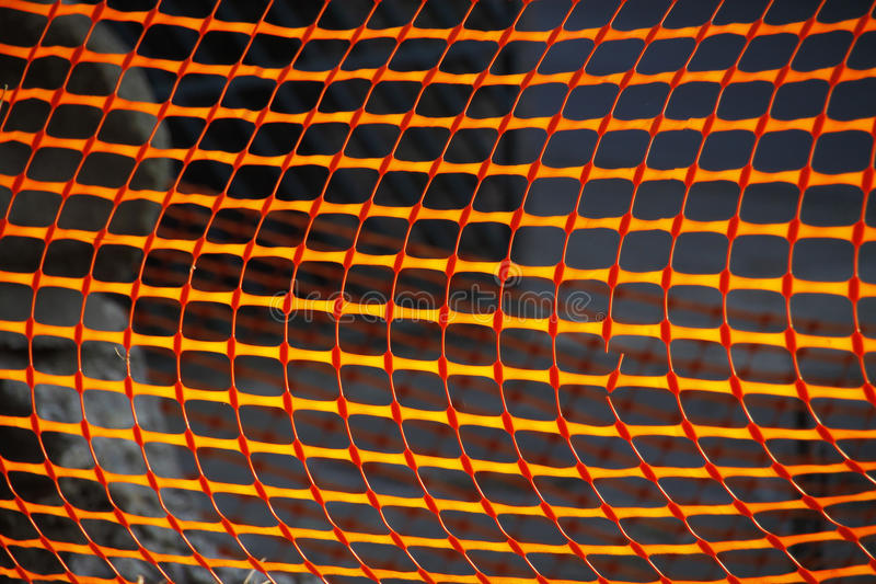 Download Orange plastic netting stock photo. Image of blocking - 23724054