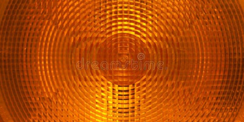 Download Orange Plastic Surface Of Warning Light Stock Image