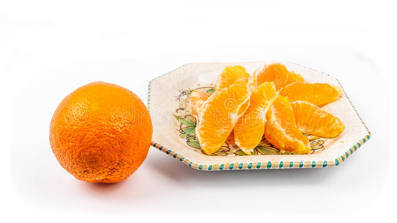 orange platta royaltyfri bild