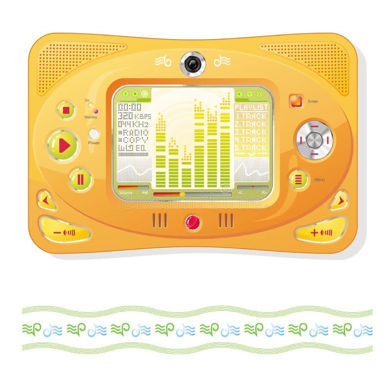 Download Orange Player stock vector. Illustration of navigation - 25376113
