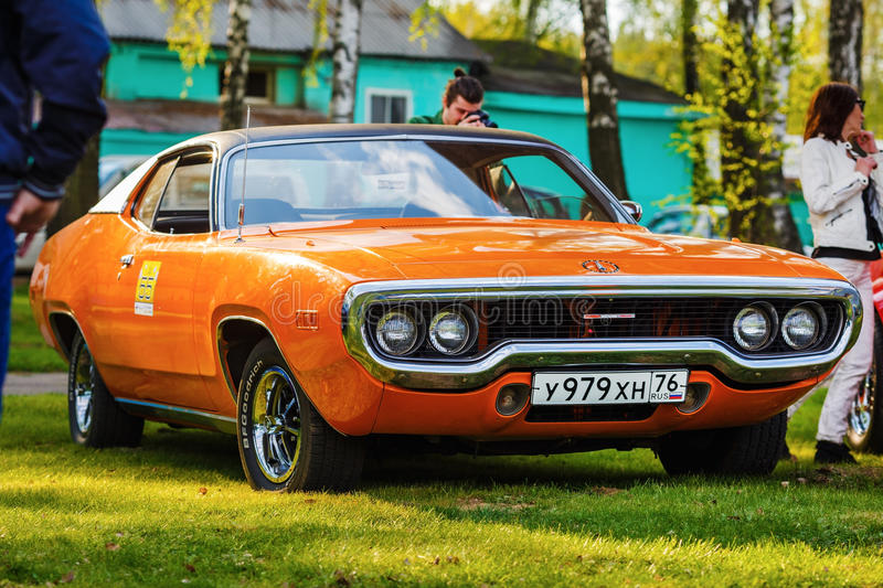 Orange Plymouth Satellite royalty free stock images