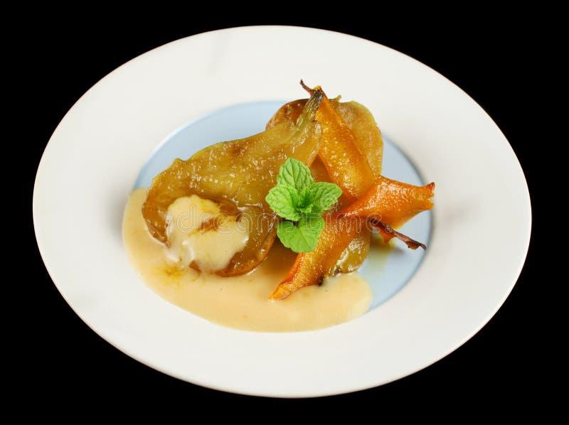 Orange Poached Pears 1 stock image
