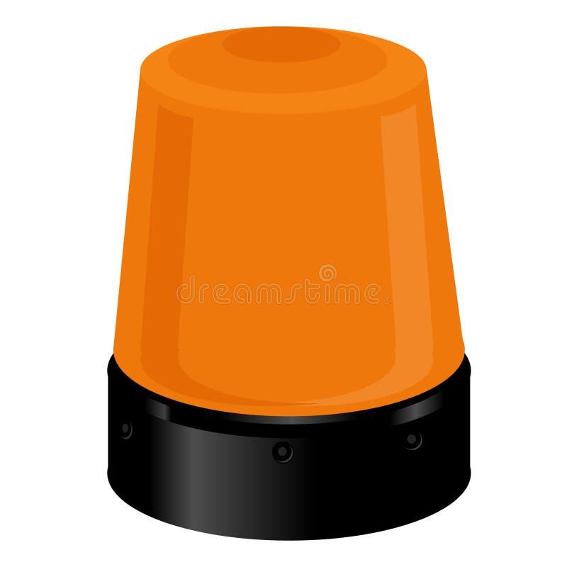 Download Orange police light stock illustration. Image of medical - 58531919
