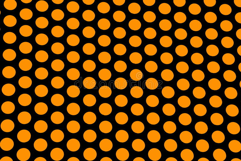 Orange polka dots. On a black background royalty free stock photos