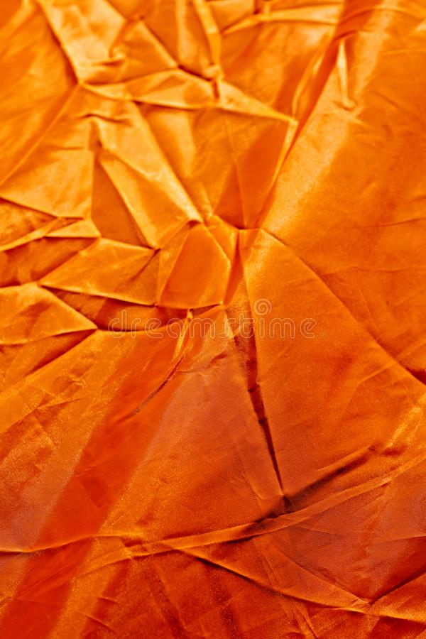 Orange polyester abstract macro background high quality prints stock image