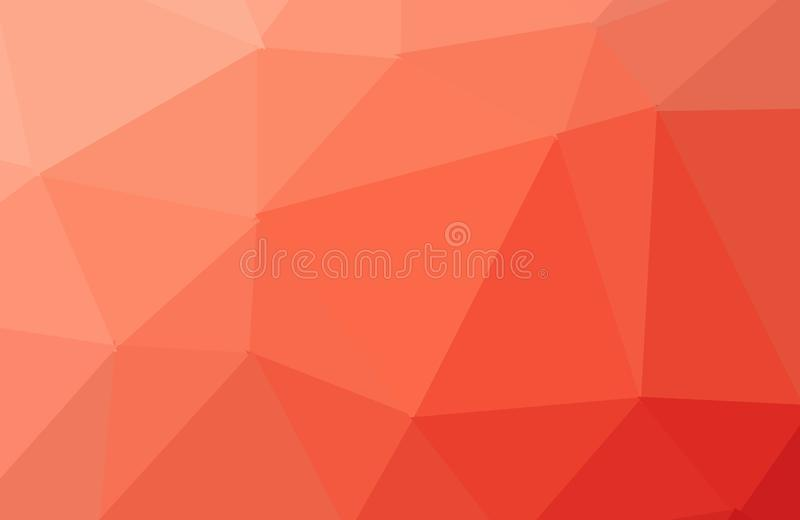 Orange polygonal illustration, which consist of triangles. Triangular design for your business. Creative geometric background in. Origami style with gradient vector illustration