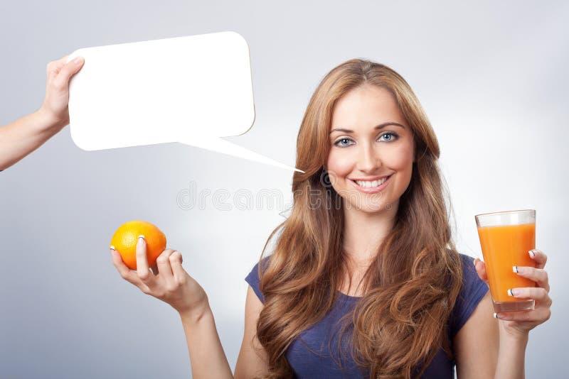 Orange Portrait Royalty Free Stock Photography