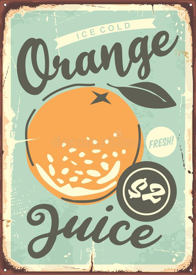 Free Orange Poster Design With Juicy Orange In The Middle. Royalty Free Stock Photos - 190547128