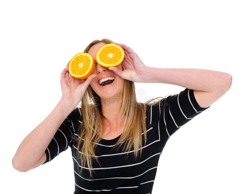 Orange pour des yeux photos libres de droits