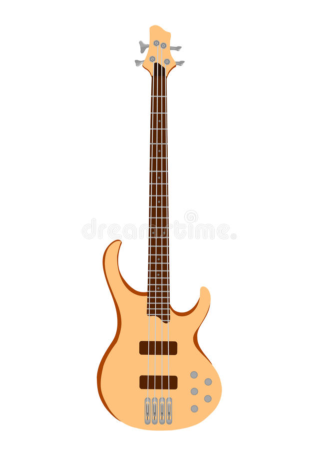 orange professional white för electro gitarr stock illustrationer