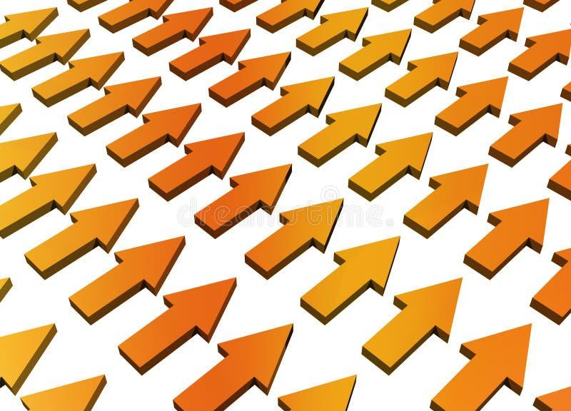 orange progress för abstrakt tillväxt vektor illustrationer