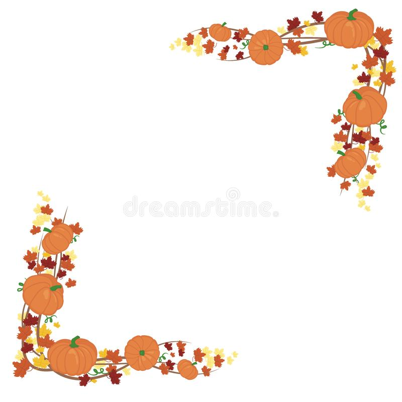 Thanksgiving Pumpkin Border Clipart