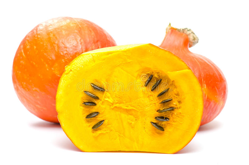 Download Orange pumpkins with seeds stock photo. Image of squash - 34270338