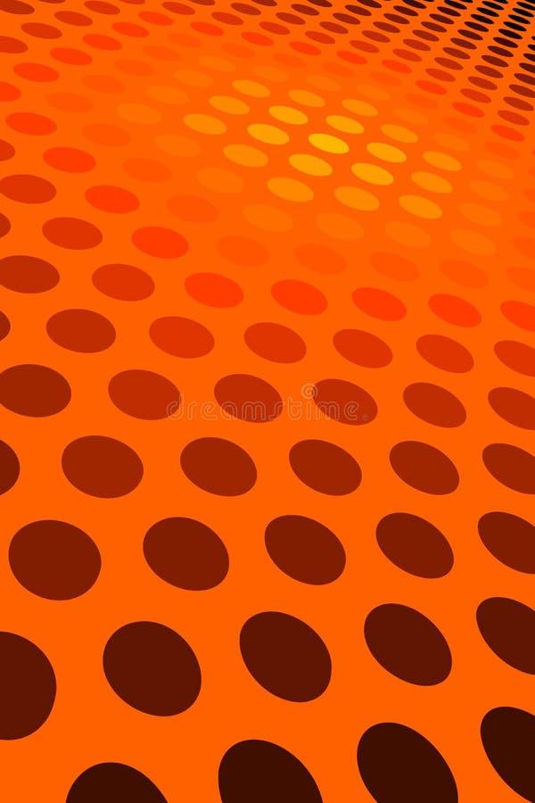 Orange Punkt-Muster lizenzfreie abbildung