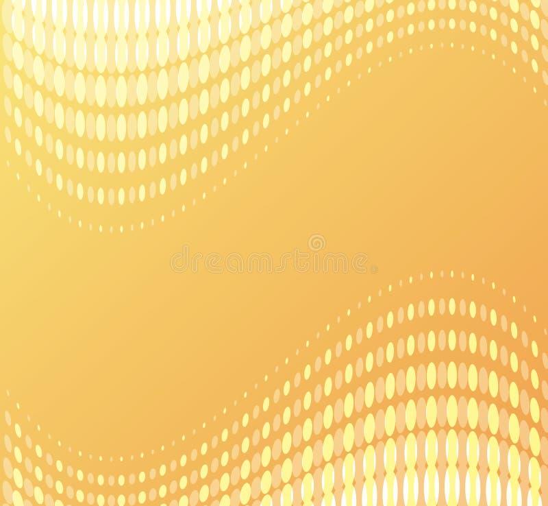 Orange punktierter Hintergrund lizenzfreie abbildung