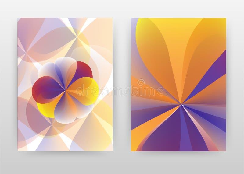 Orange purple flower petal design of annual report, brochure, flyer, poster. Flower concept background vector illustration for. Flyer, leaflet, poster. Business stock illustration