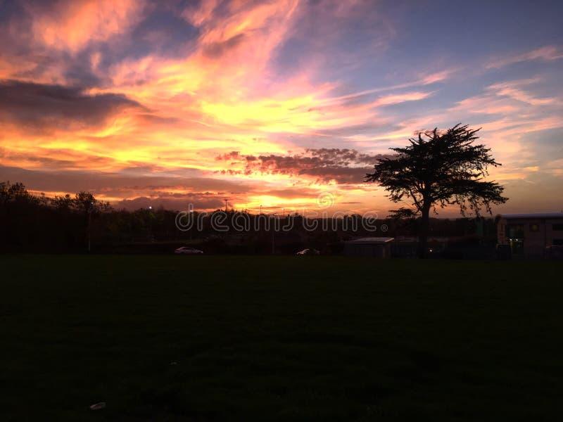 Sunset over Dublin royalty free stock photos