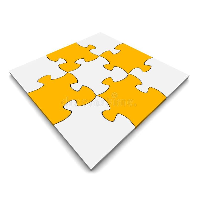 orange pussel för grå jigsaw vektor illustrationer