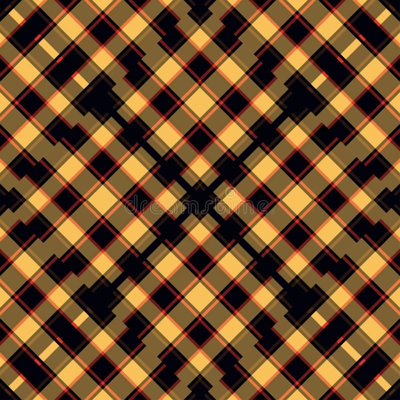 Orange röda och svarta linjer härlig geometrisk bakgrundsillustration royaltyfri illustrationer