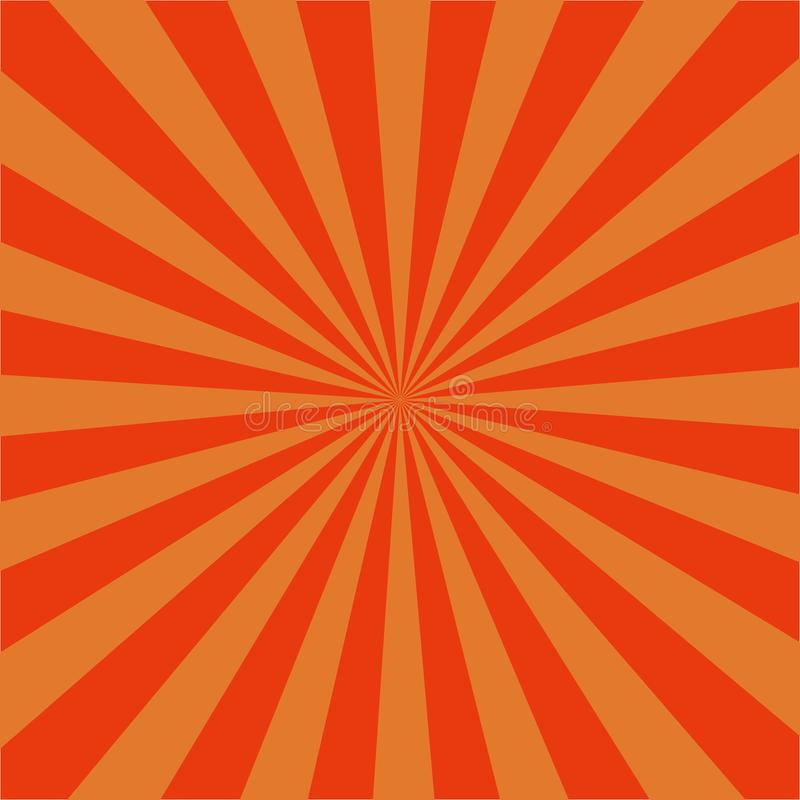 Orange radial sunrise retro background.Sunburst Pattern with rays, abstract spiral, starburst. vector eps10 stock illustration