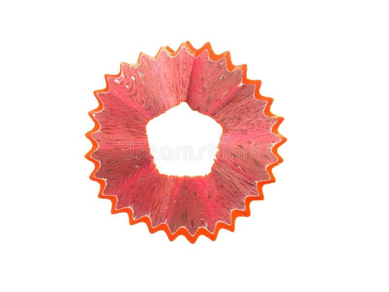 Orange raka för färgblyertspenna royaltyfria foton