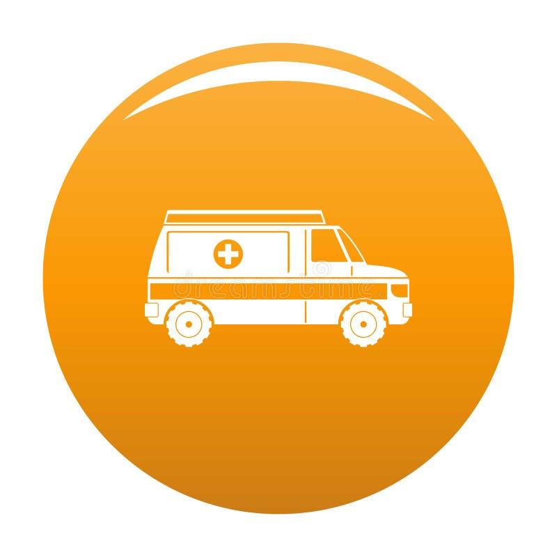 Orange rapide d'icône d'ambulance illustration libre de droits