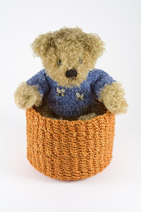 Download Orange Rattan Basket With Puppet Stock Photo - Image: 7528830