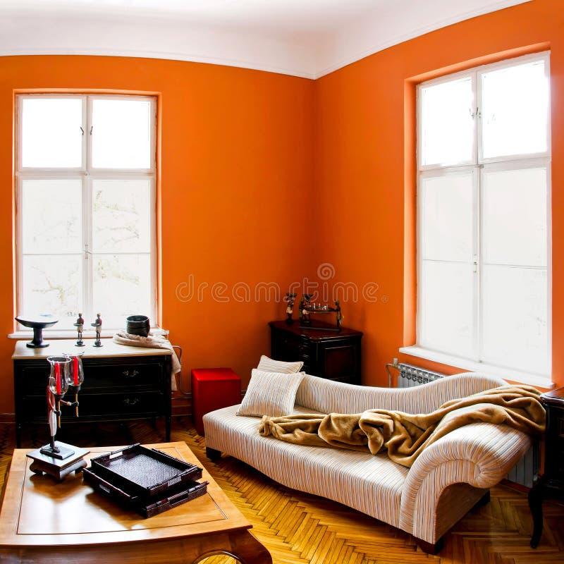 Orange Raum stockfotografie
