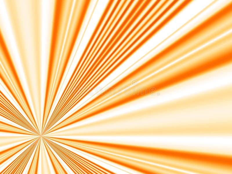 Orange rays royalty free illustration