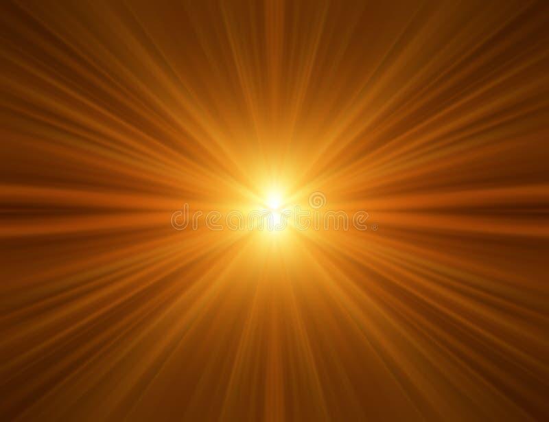 Orange Rays Background. Light ray background image with bilateral symmetry