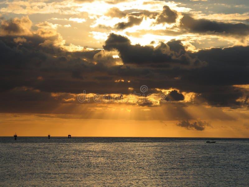 Orange Rays of light royalty free stock images