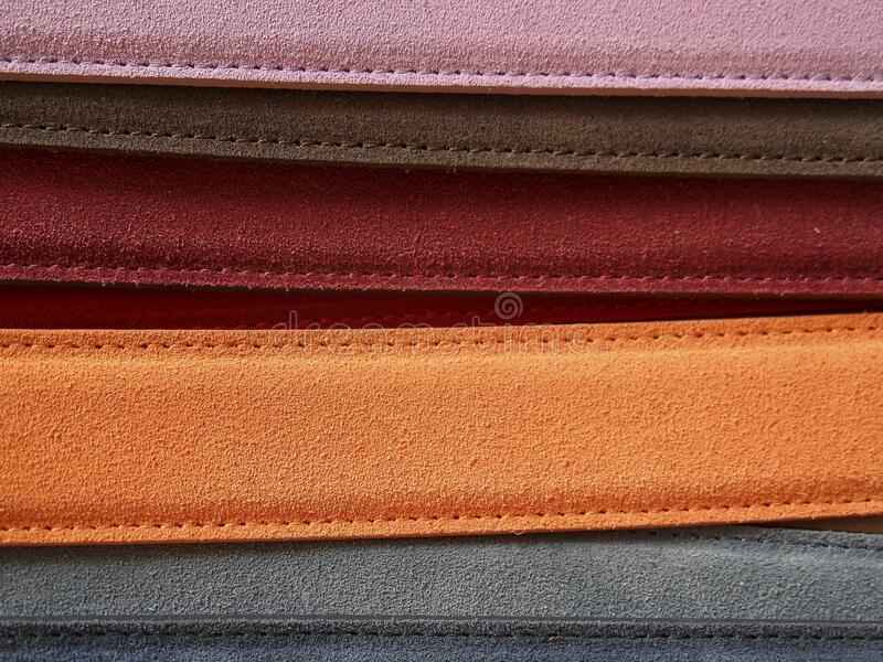 Orange rechteckiger Strang nahe Grey Rectangular Strand lizenzfreies stockfoto