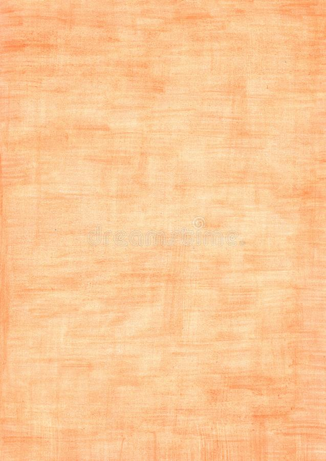 Orange rectangle sheet of paper colored with pencil royalty free stock photos