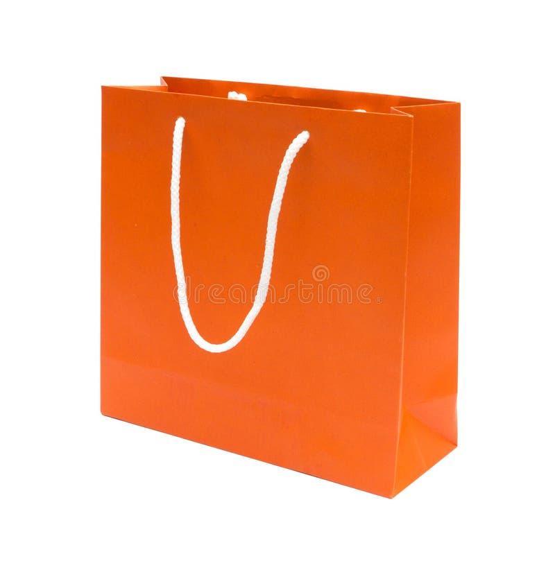 Free Orange Recycle Paper Shopping Bag Royalty Free Stock Photo - 26132365